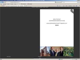 Der Online-Geschäftsbericht der DVAG