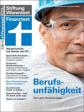 Sonderdruck Finanztest: BU