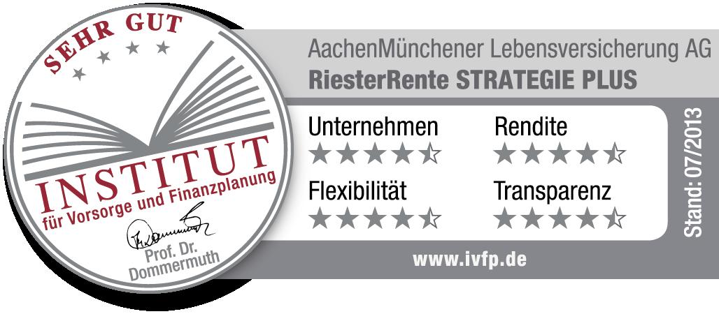 AachenMünchener Testsiegel RiesterRente