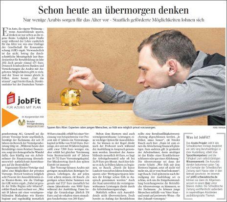Schwäbische Zeitung vom 14.09.2013