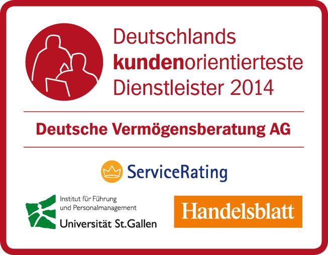 DVAG - Deutschlands kundenorientierteste Dienstleister 2014