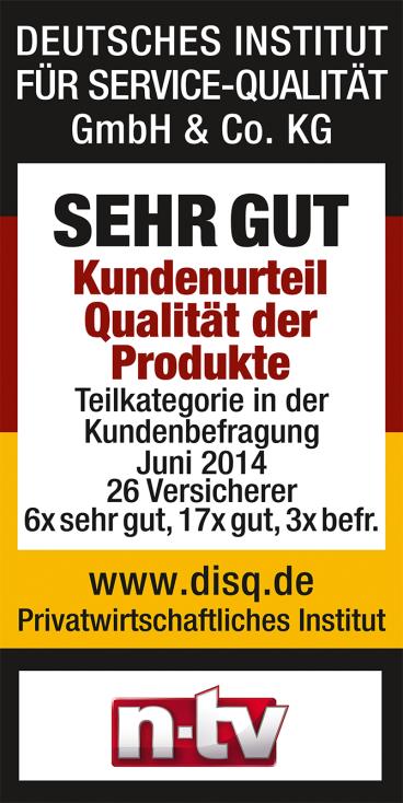 KB-n-tv-SehrGut-Kundenurteil-Qualitaet-Versicherer-2014