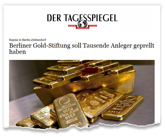 Zeitungsausriss_Tagesspiegel_Gold-Stiftung