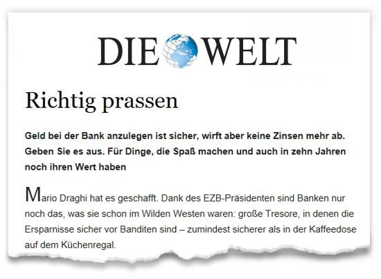 Zeitungsausriss_WELT_Prassen