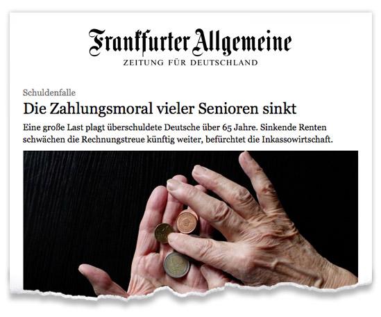 Zeitungsausriss_FAZ_Schuldenfalle