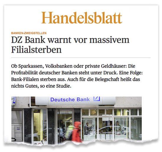 Zeitungsausriss_Handelsblatt-Filialsterben