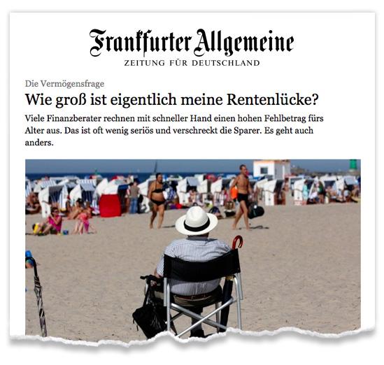 Zeitungsausriss_FAZ_Finanzen_Rente