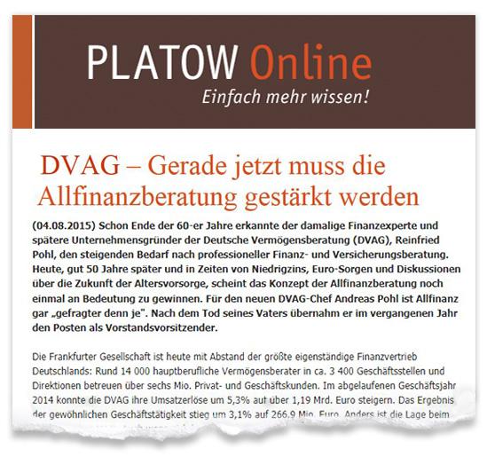 Zeitungsausriss-Platow