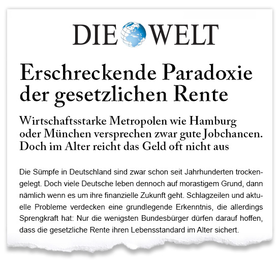 Zeitungsausriss_WELT_Paradoxie