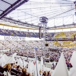 JuniWir feiern mit 35.000 Gästen unseren Familientag in der Commerzbank-Arena