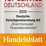"""MaiWir sind bester Finanzdienstleister im Wettbewerb """"Top Service Deutschland 2015"""""""